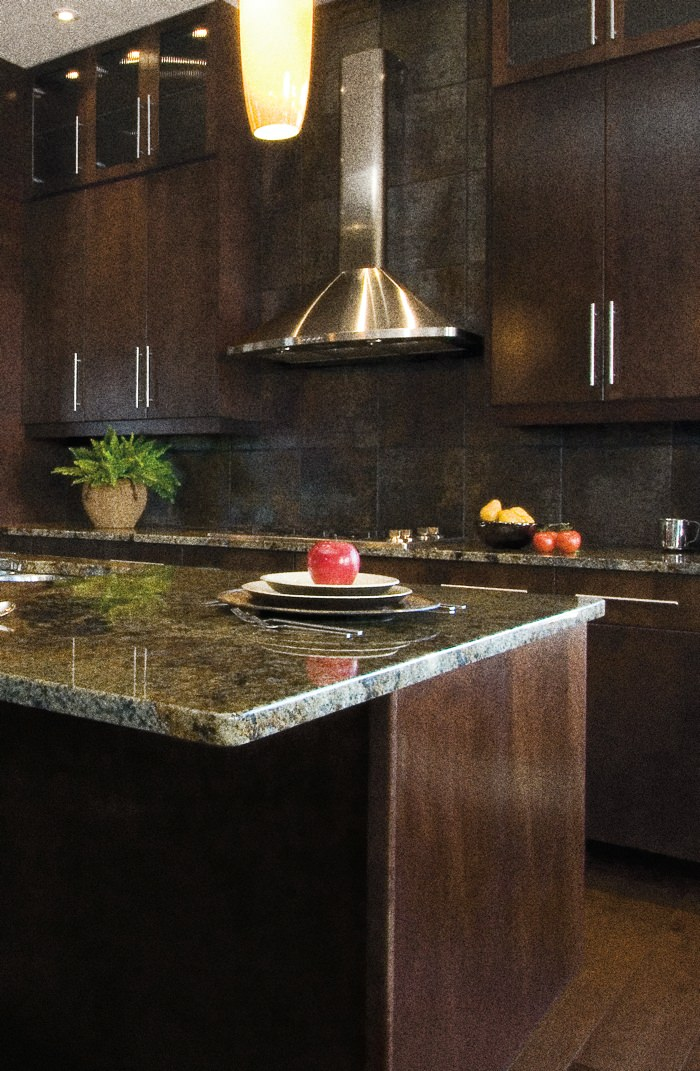 Example of clean kitchen countertop