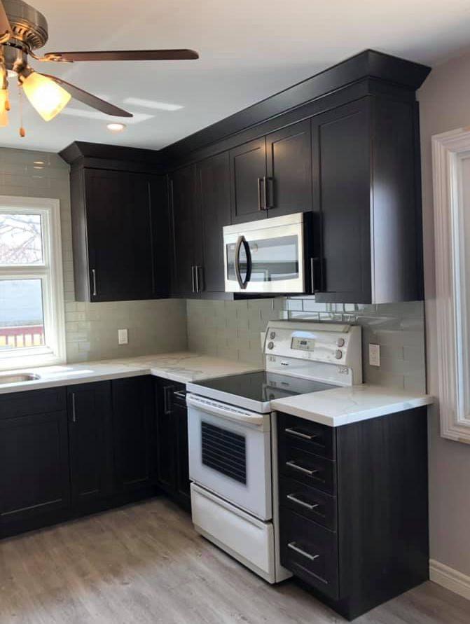 Cabinets floors countertops renovation